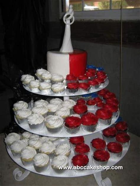 red white black  blue wedding cupcakes abc