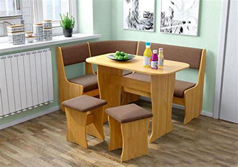 fiji kitchen nook dining table set  shaped storage bench