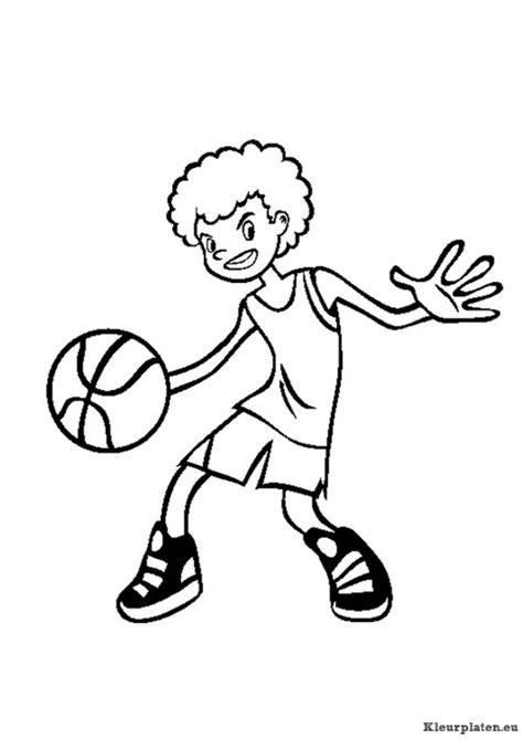 Kleurplaat Basketbal by Basketbal Kleurplaten Kleurplaten Eu