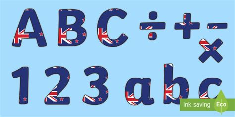 zealand flag display lettering lowercase  sealand