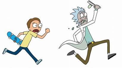 Rick Running Morty Transparent Mortimer Primitive Portal