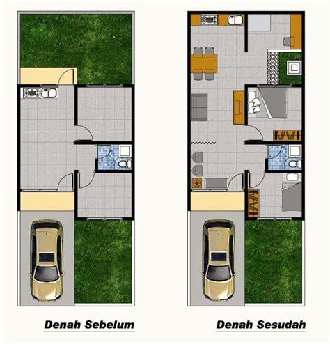 denah rumah type  renovasi ide buat rumah pinterest