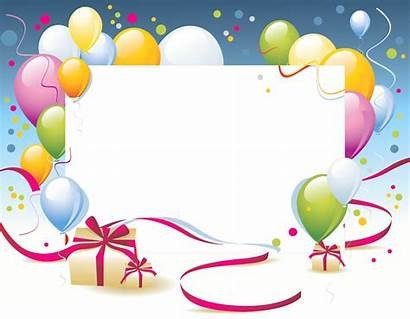 Birthday Party Frames Transparent Background Balloons Gift