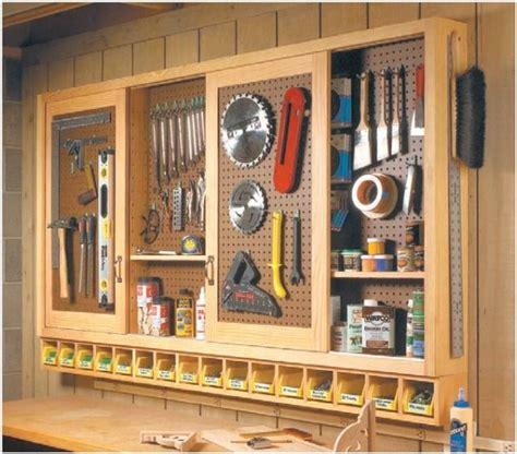 sliding door pegboard cabinet diy garage storage garage