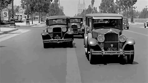 1930's Car Dash Pov Camera Wilshire Boulevard Beverly