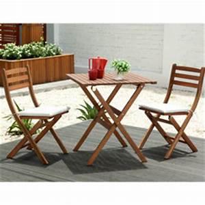 Table Pour Petit Balcon : petit salon pas cher salon de balcon bois romeo 1 table 2 chaises oogarden france ~ Melissatoandfro.com Idées de Décoration