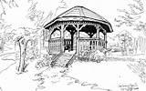 Gazebo Lake Park Seminole Deviantart Drawings sketch template