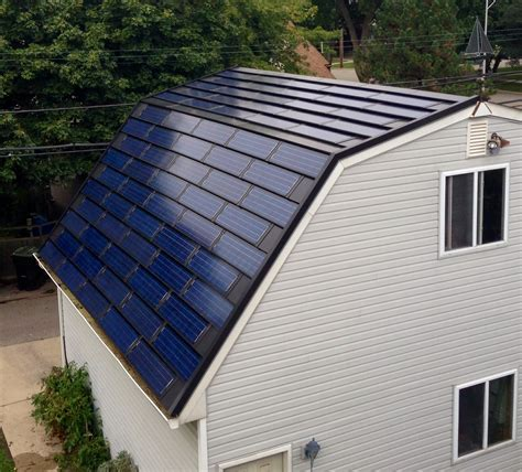 exterior cool roof design with solar roof shingles and