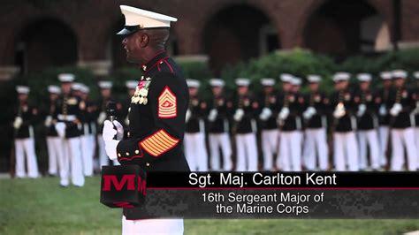 sergeant major   marine corps takes post youtube
