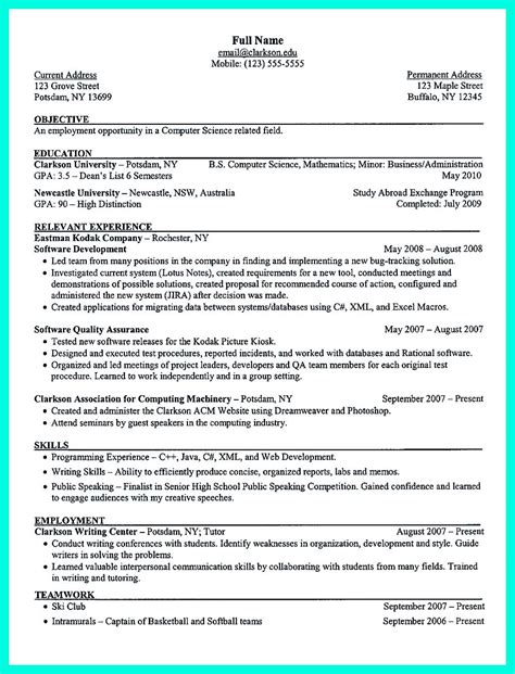 sample resume for college the perfect college resume template to get a job
