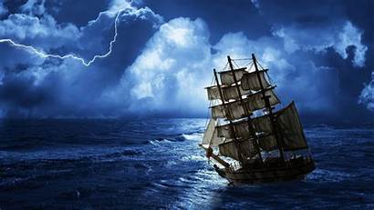 Ship Rough Seas Sailing Ocean Sea Fantasy