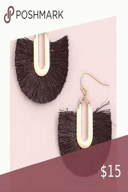 Earrings Drop Tassels Fan Tassel Dietgeo Length