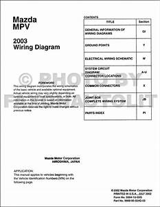 2003 Mazda Mpv Wiring Diagram Manual Original