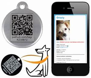 Qr pet tag by red dingo red heart code tag for Qr code dog tag