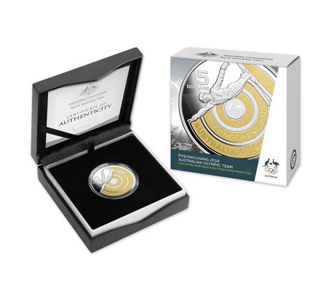2018 large silver plated number 2018 5 pyeongchang australian olympic team silver