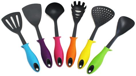 colored kitchen utensils colorful 7 kitchen utensil set your kitchen 2332