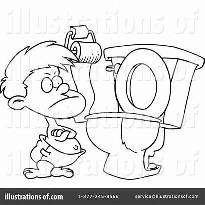 Potty Training Clipart Illustration Toonaday Royalty Rf