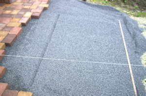4 kant metallstangen unterbau f 252 r die terrasse gef 228 lle im split herstellen