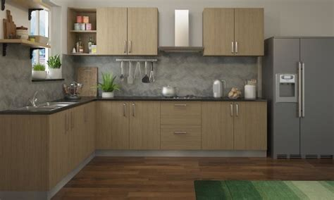 L Shaped Kitchen Modular Designs From Mygubbi Excellent