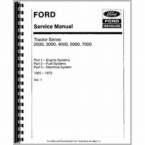 Ford 4110 Tractor Service Manual  1965