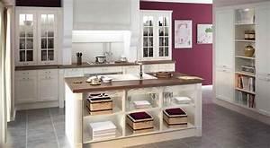 buffet de cuisine bois blanc With marvelous meuble de cuisine en bois rouge 6 com moderniser cuisine rustique