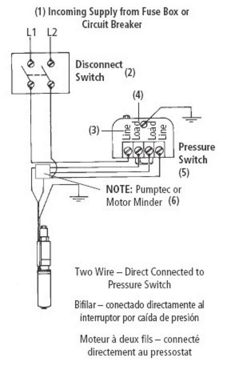 wiring diagram for 220 volt submersible pump wiring