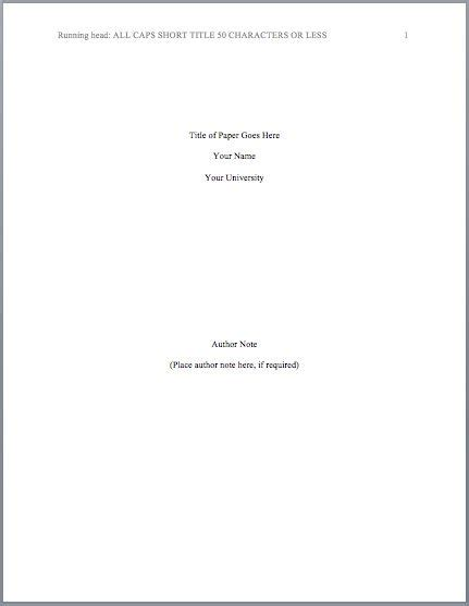 Apa Format Title Page Best 25 Apa Format Cover Page Ideas On Cover