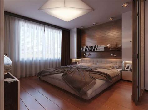 masculine color schemes for bedrooms with white curtains