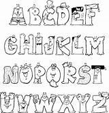 Alphabet Letters Fonts Coloring Pages Font Lettering Calligraphy Alphabets Abc Colorthealphabet Graffiti Hand Funny Creative Fun Doodle Styles Letter Fancy sketch template