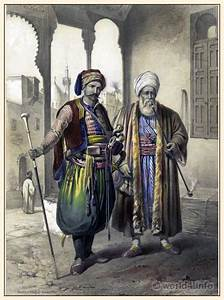Traditional Arabian costume and clothing. Ottoman empire ...