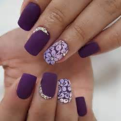 Top simple nail designs for short nails purple