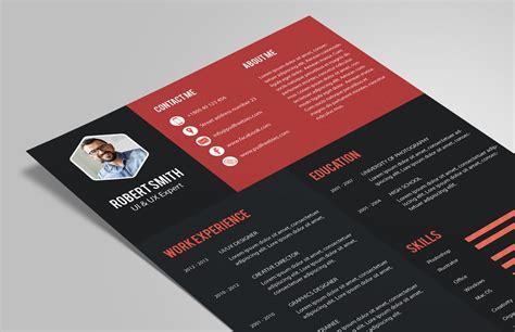 creative resume cv design template psd file good resume