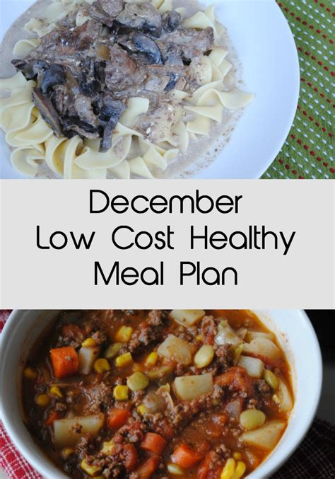 cuisine low cost december low cost healthy meal plan eat well spend smart