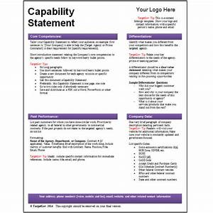 Targetgov capability statement editable template targetgov for Capabilities statement template