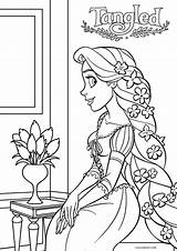 Rapunzel Coloring Tangled Pages Printable Disney Cool2bkids Colouring Princess Print Pretty Marvelous Entitlementtrap Sheets Printables Birthday sketch template