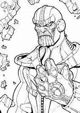 Marvel Coloring Pages Thanos Infinity Gauntlet Panther Games Avengers Game Coloringgames sketch template