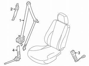 Hyundai Elantra Belt  U0026 Retractor  Seat Belt Lap And