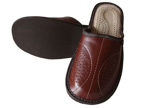 Mens Leather Slippers Slip On Shoes Size 7 8 9 10 11 12 13