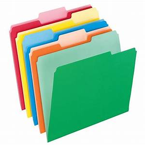 pendaflexr two tone color file folders letter size 1 3 With document files and folders