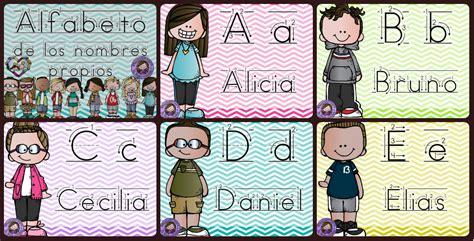 abecedario de tarjetas para poner los nombres propios imagenes educativas