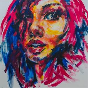 acrylic paintings of absract faces | Fine Art | Girl ...
