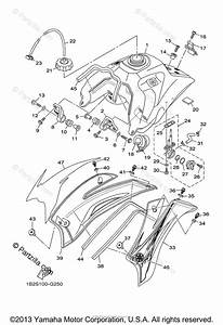 Yamaha Motorcycle 2008 Oem Parts Diagram For Fuel Tank
