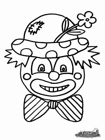 Clown Coloring Pages Scary Clowns Drawing Faces