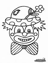 Clown Coloring Scary Clowns Faces Drawing Cartoon Pennywise Printable Colouring Cliparts Sheets Template Clipart Halloween Getdrawings Frog Outline Cartoons Sketch sketch template