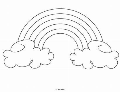 Rainbow Coloring Printable Template Outline Templates Printables