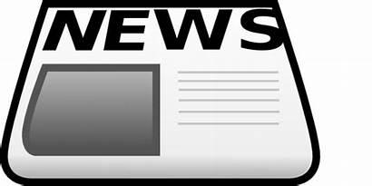 Newspaper Clip Clipart Paper Transparent Open Newpaper