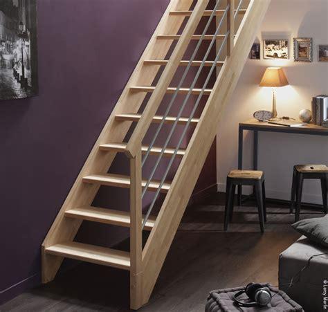 escalier droit bois pas cher helvia co