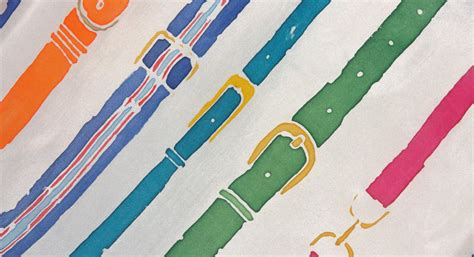 printed wool scarf belt silk scarf striiiipes