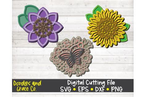 Your purchase will include 1 zip folder 3d butterfly mandala 3d butterfly butterfly mandala mandala svg 3d multi layered 3d mandala layered mandala 3d wall decor laser cut. 3D Butterfly Mandala Layered Svg - Free Layered SVG Files