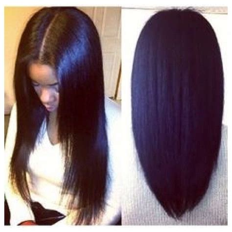 18 Inch Sew In Hairstyles by 25 Best Ideas About Middle Part Sew In On